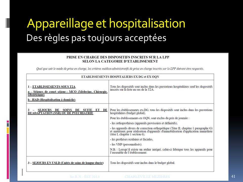 Appareillage et hospitalisation