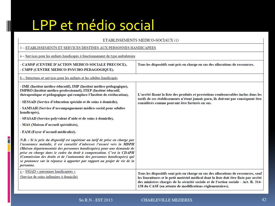 LPP et médio social So.R.N.- EST 2013 CHARLEVILLE MEZIERES