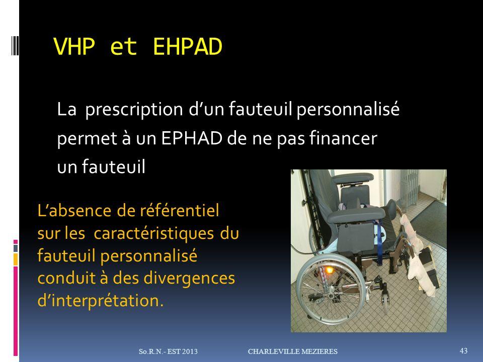 VHP et EHPAD La prescription d'un fauteuil personnalisé permet à un EPHAD de ne pas financer un fauteuil