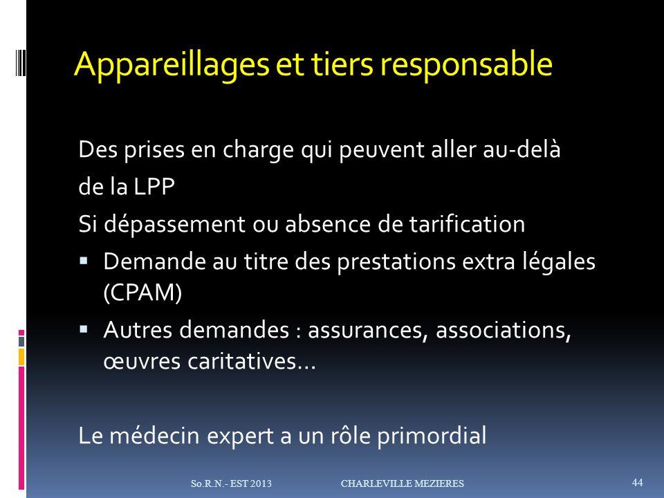 Appareillages et tiers responsable