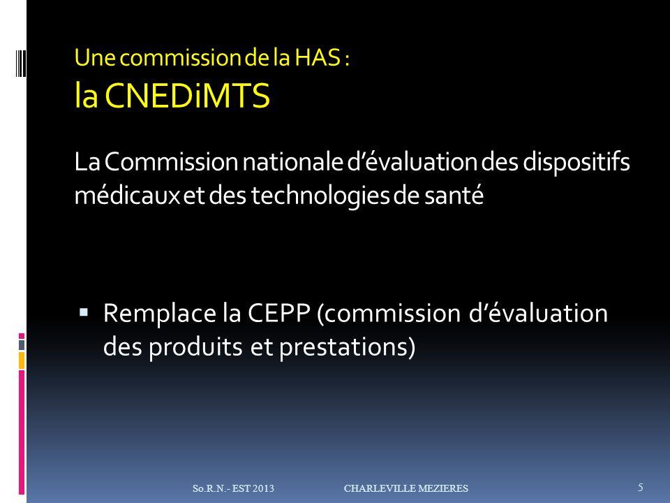 Remplace la CEPP (commission d'évaluation des produits et prestations)