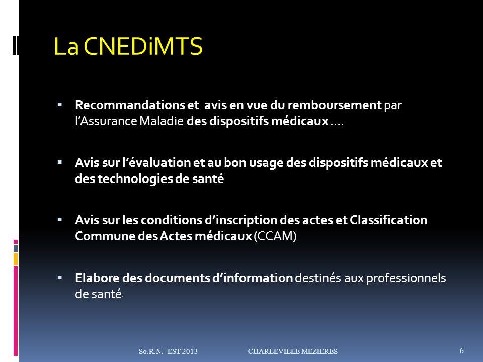 La CNEDiMTS Recommandations et avis en vue du remboursement par l'Assurance Maladie des dispositifs médicaux ….