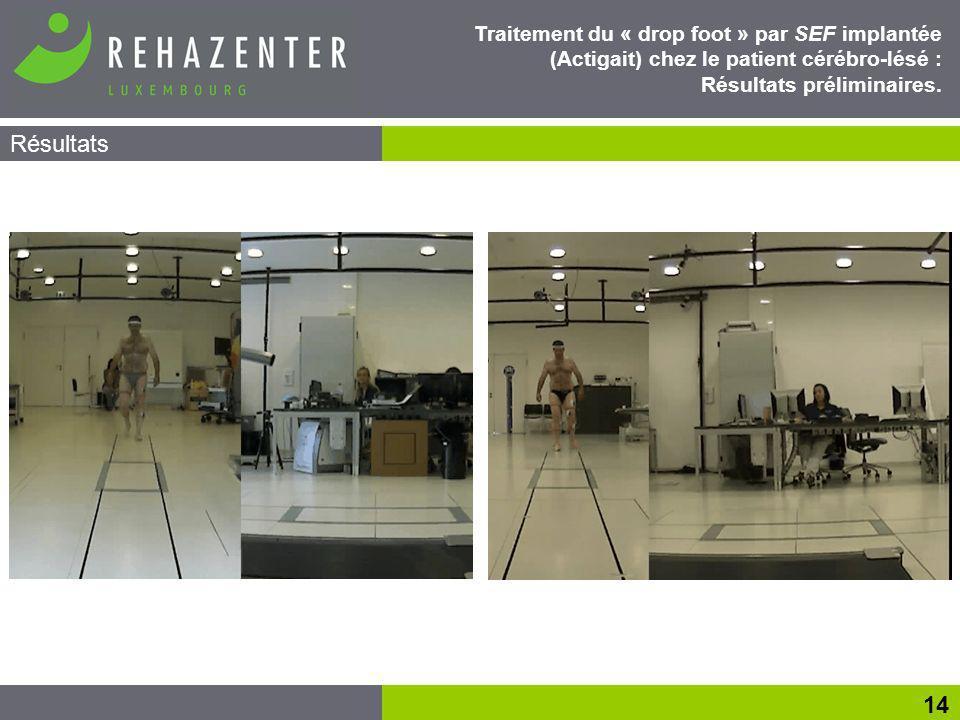 Traitement du « drop foot » par SEF implantée (Actigait) chez le patient cérébro-lésé : Résultats préliminaires.