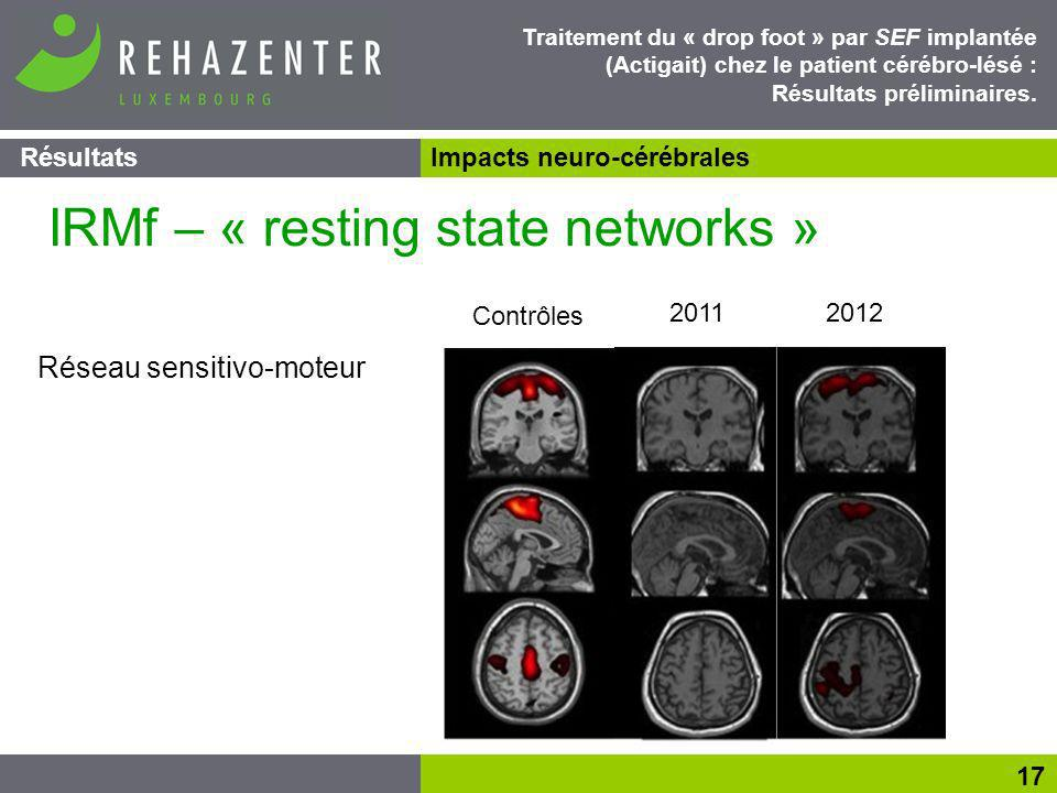 IRMf – « resting state networks »