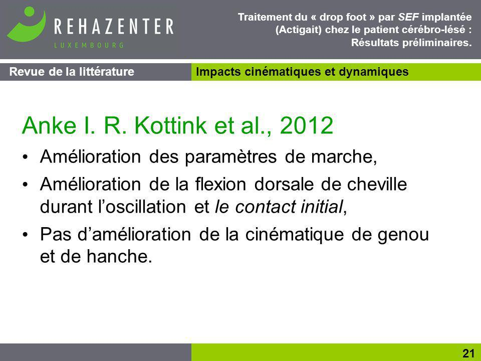 Anke I. R. Kottink et al., 2012 Amélioration des paramètres de marche,