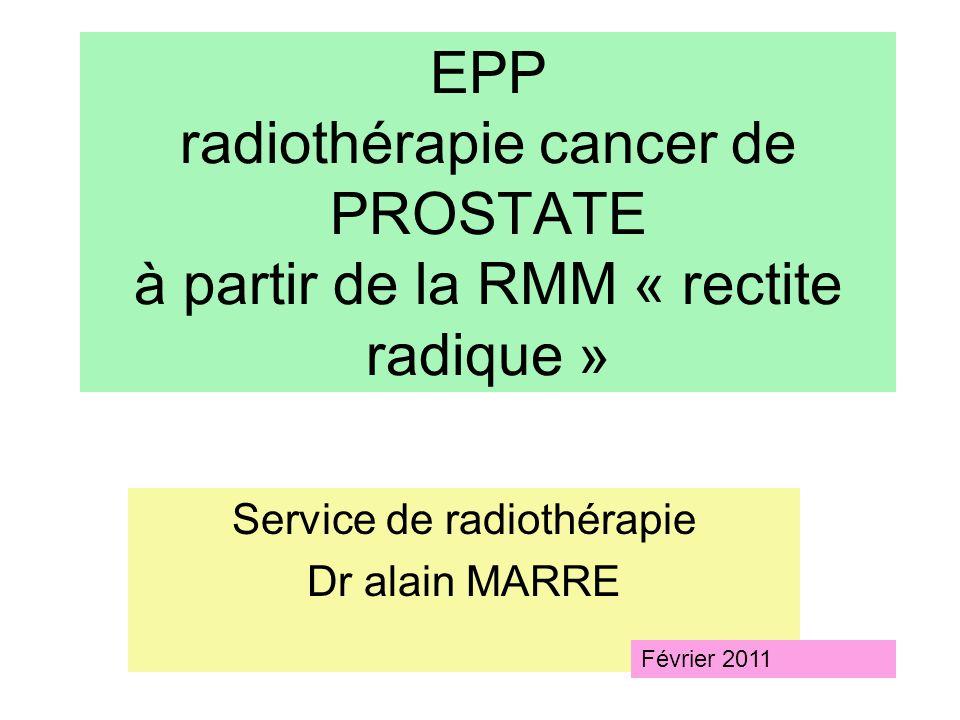 Service de radiothérapie Dr alain MARRE