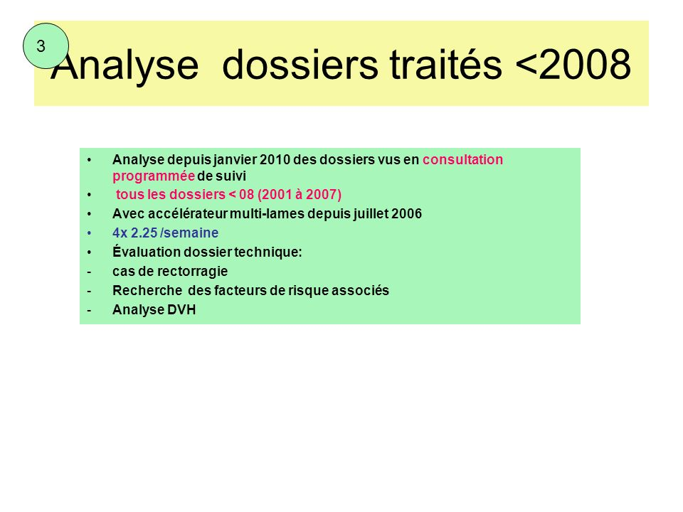 Analyse dossiers traités <2008
