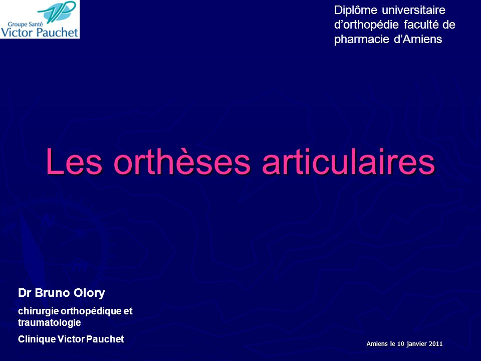 Les orthèses articulaires