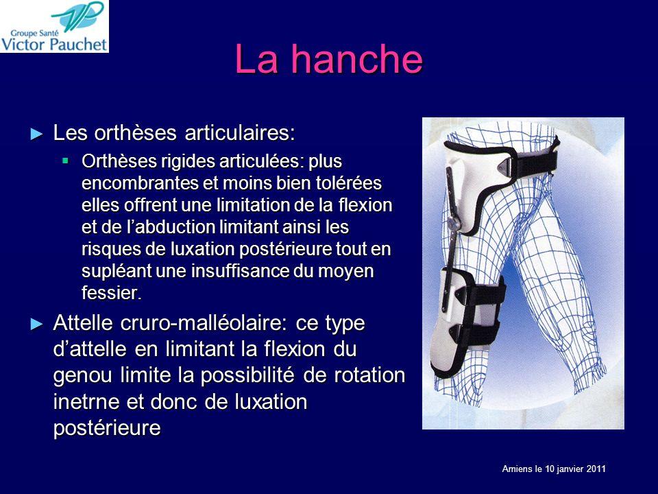 La hanche Les orthèses articulaires: