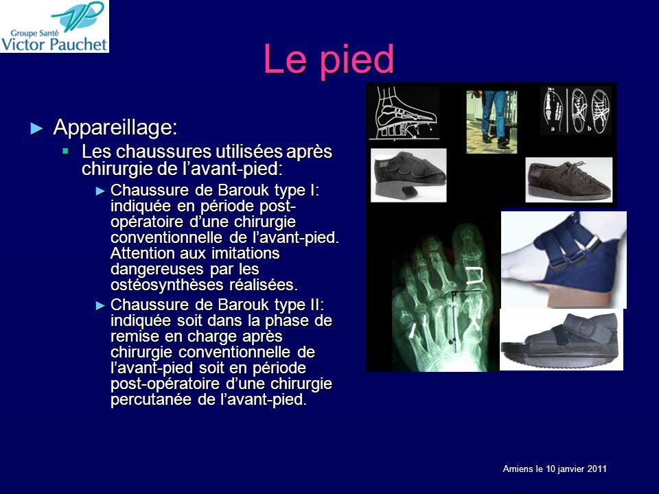 Le pied Appareillage: Les chaussures utilisées après chirurgie de l'avant-pied: