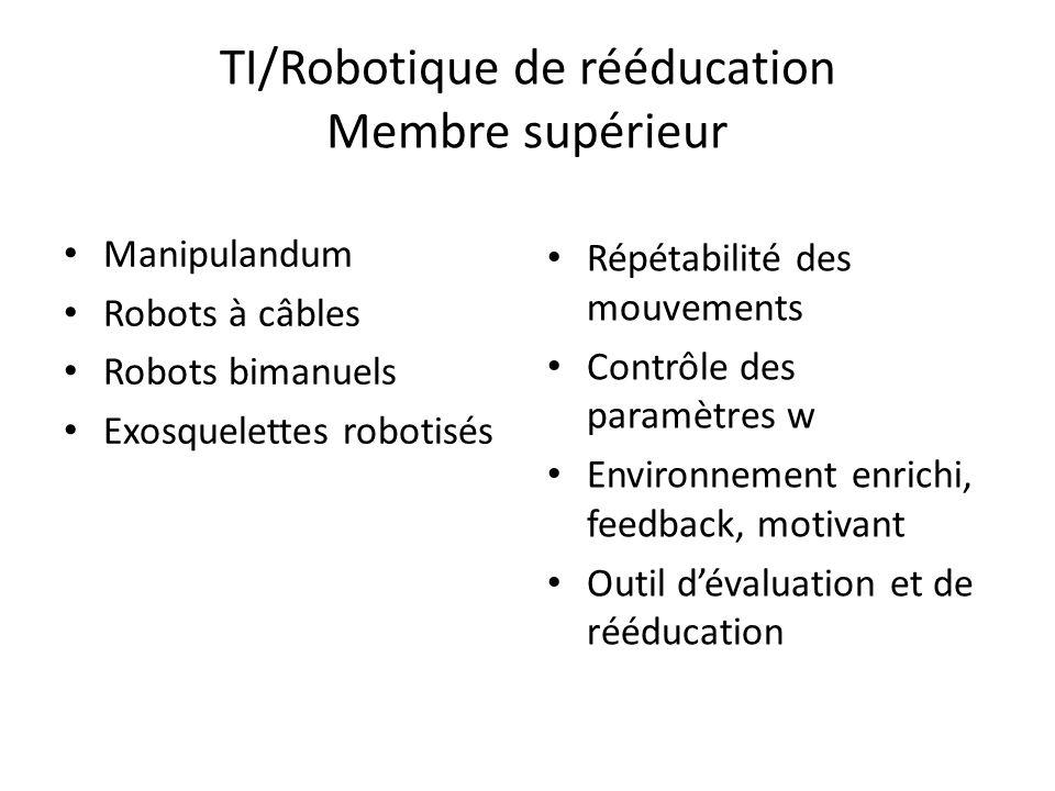 TI/Robotique de rééducation Membre supérieur