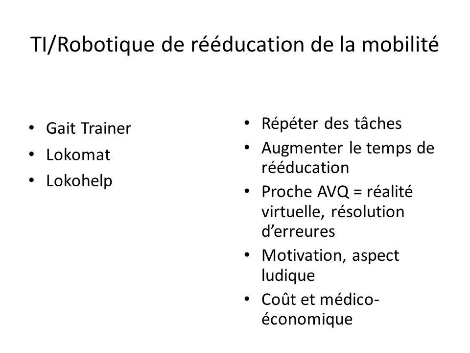 TI/Robotique de rééducation de la mobilité
