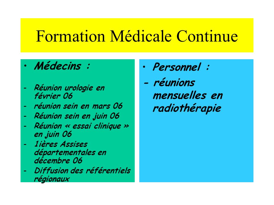 Formation Médicale Continue