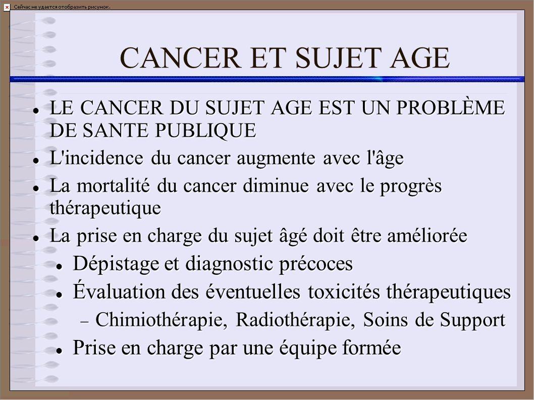 CANCER ET SUJET AGE Dépistage et diagnostic précoces