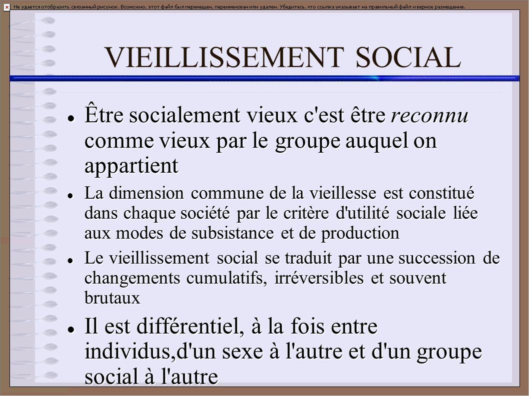 VIEILLISSEMENT SOCIAL