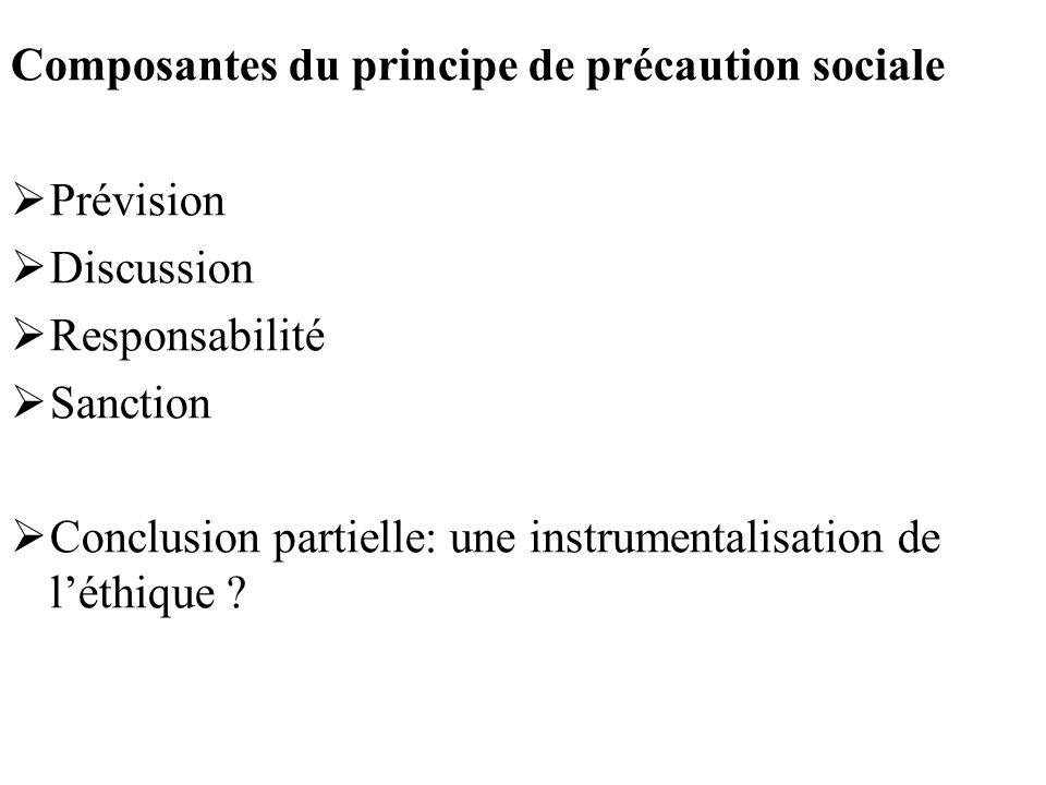 Composantes du principe de précaution sociale