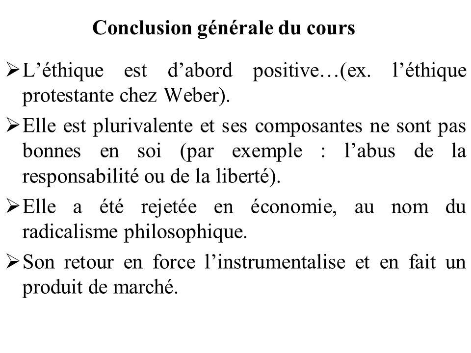 Conclusion générale du cours