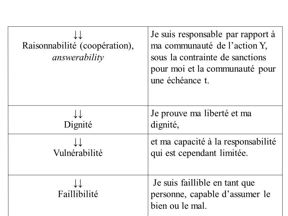 Raisonnabilité (coopération), answerability