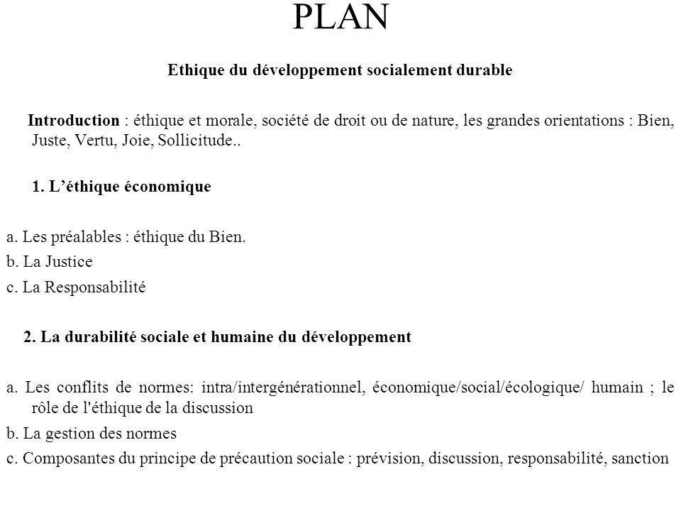 Ethique du développement socialement durable