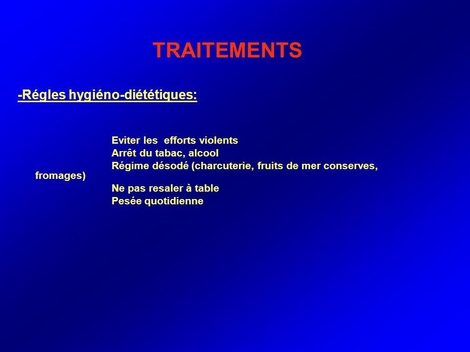 TRAITEMENTS -Régles hygiéno-diététiques: Arrêt du tabac, alcool