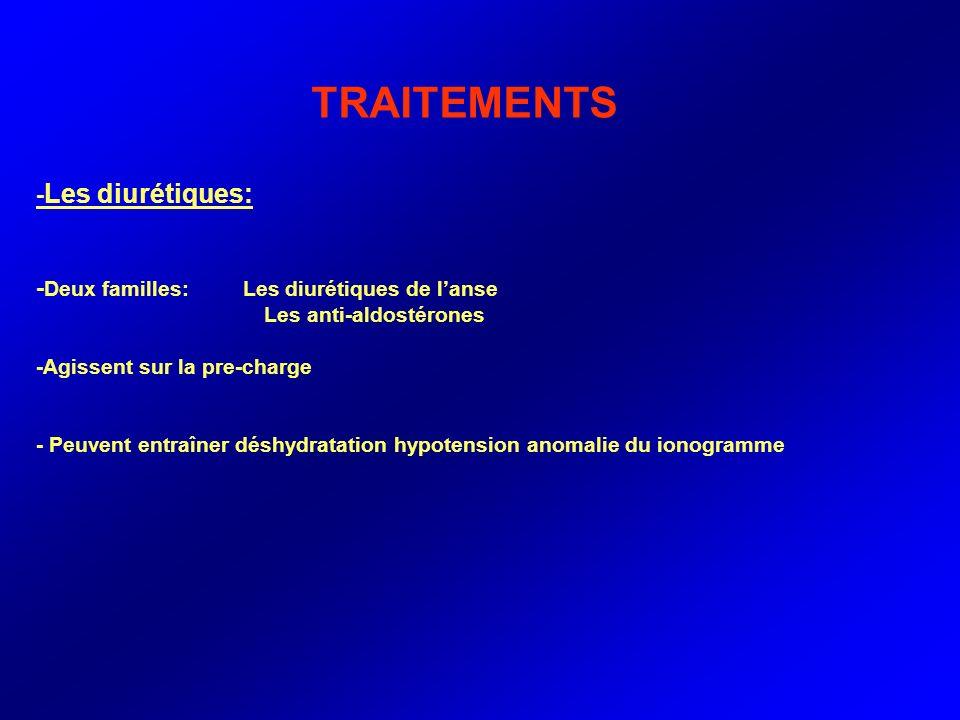TRAITEMENTS -Les diurétiques: