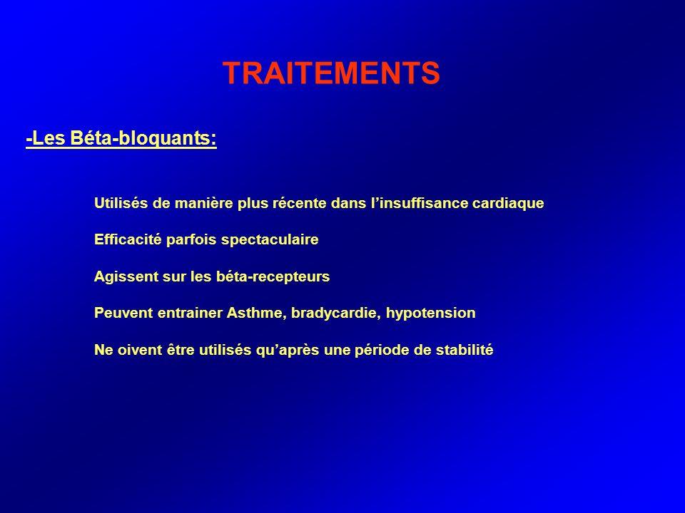 TRAITEMENTS -Les Béta-bloquants: