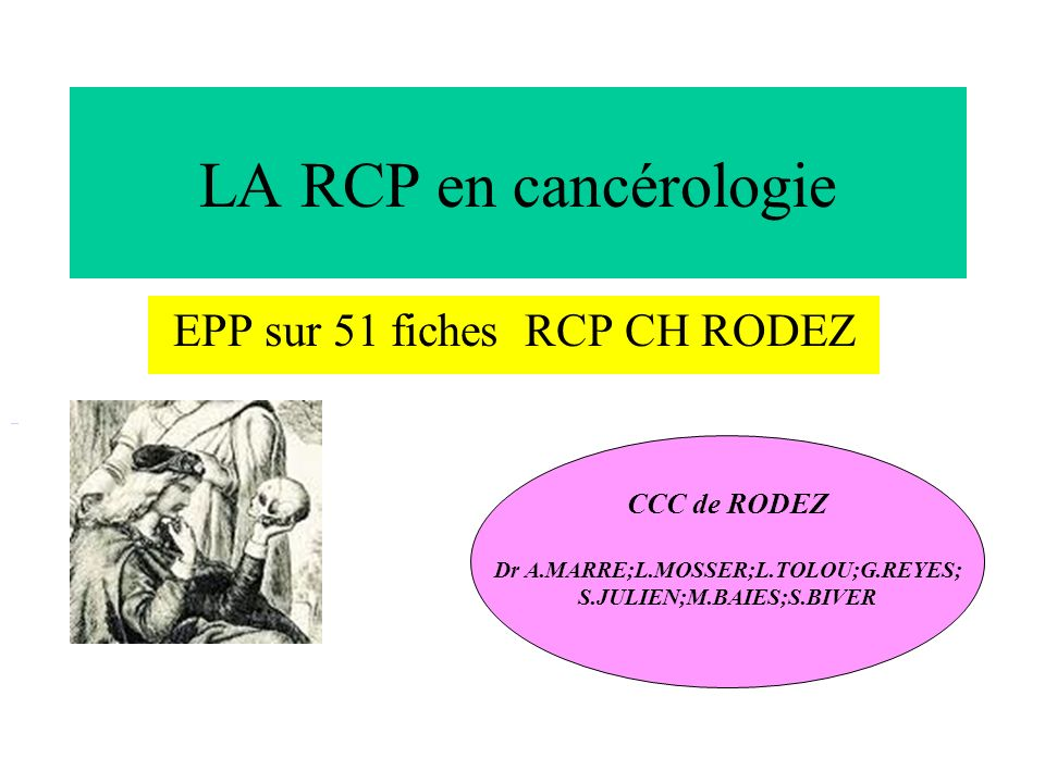 EPP sur 51 fiches RCP CH RODEZ