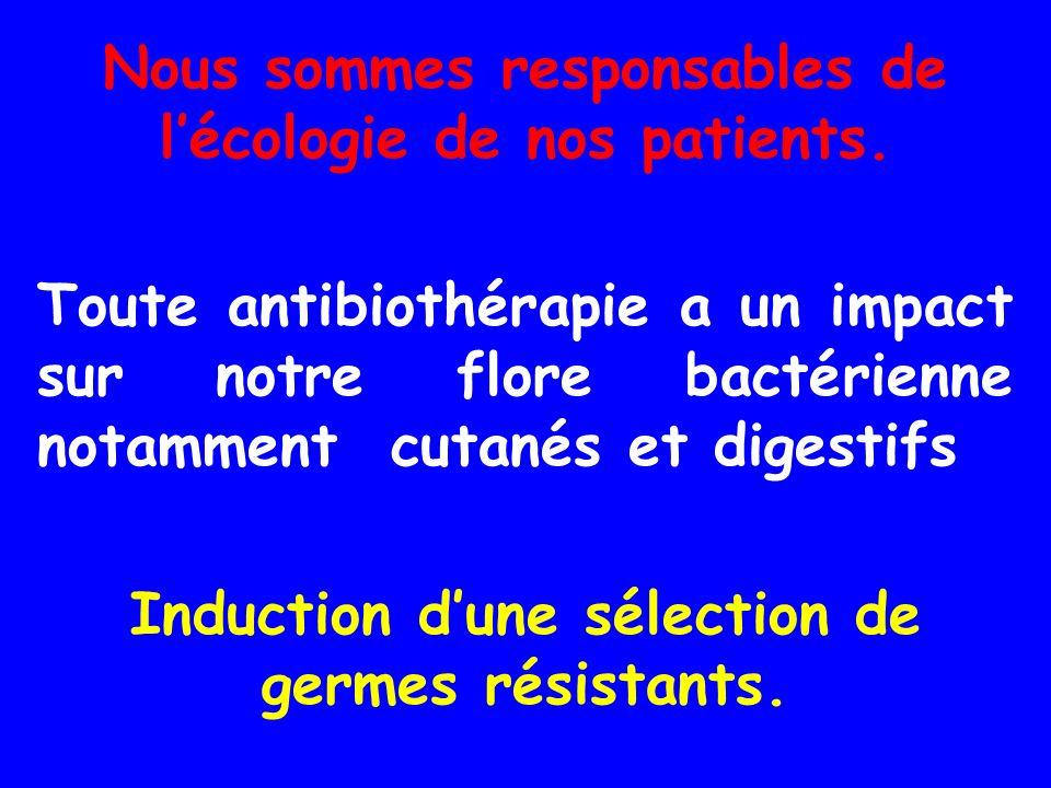 Nous sommes responsables de l'écologie de nos patients.