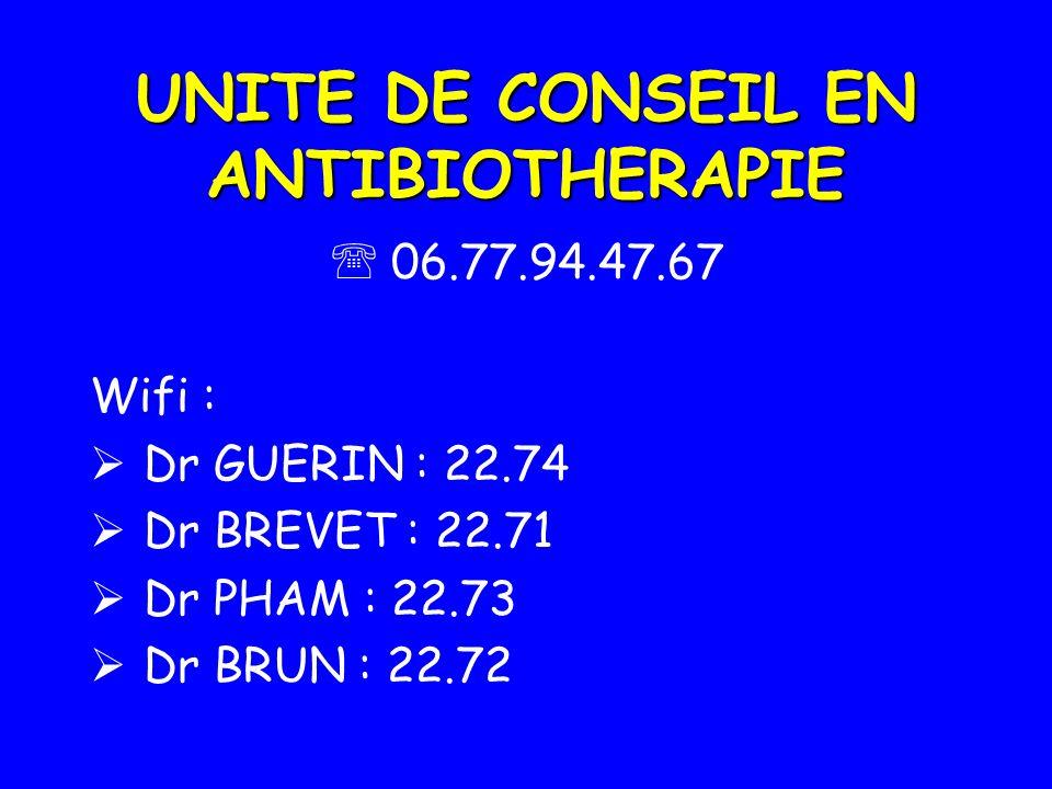 UNITE DE CONSEIL EN ANTIBIOTHERAPIE