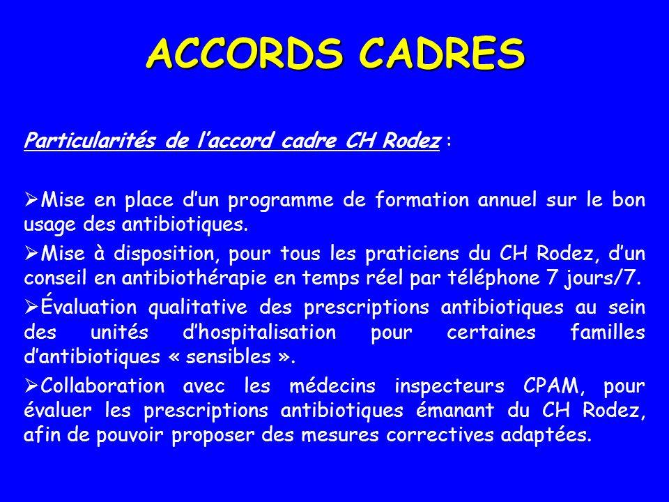 ACCORDS CADRES Particularités de l'accord cadre CH Rodez :
