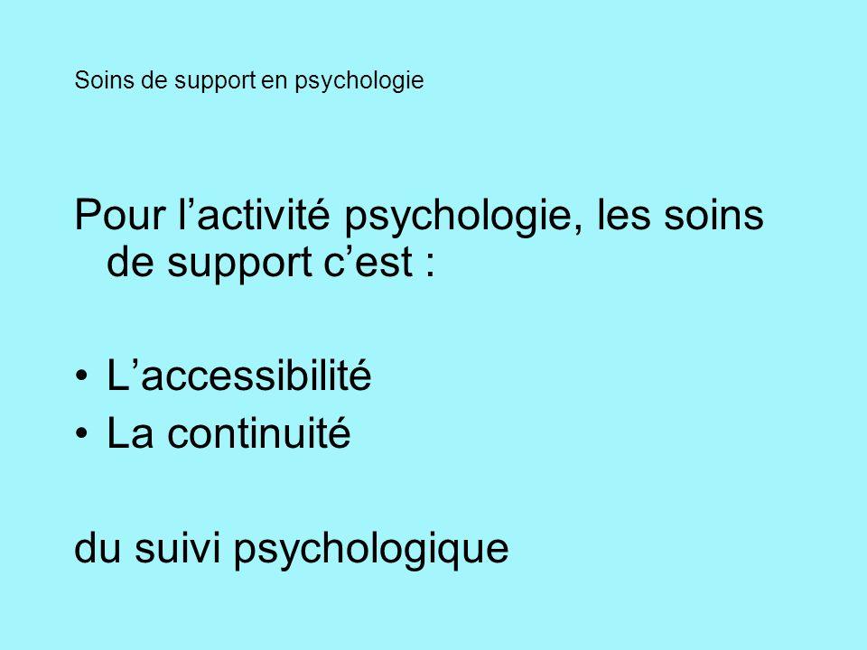 Soins de support en psychologie