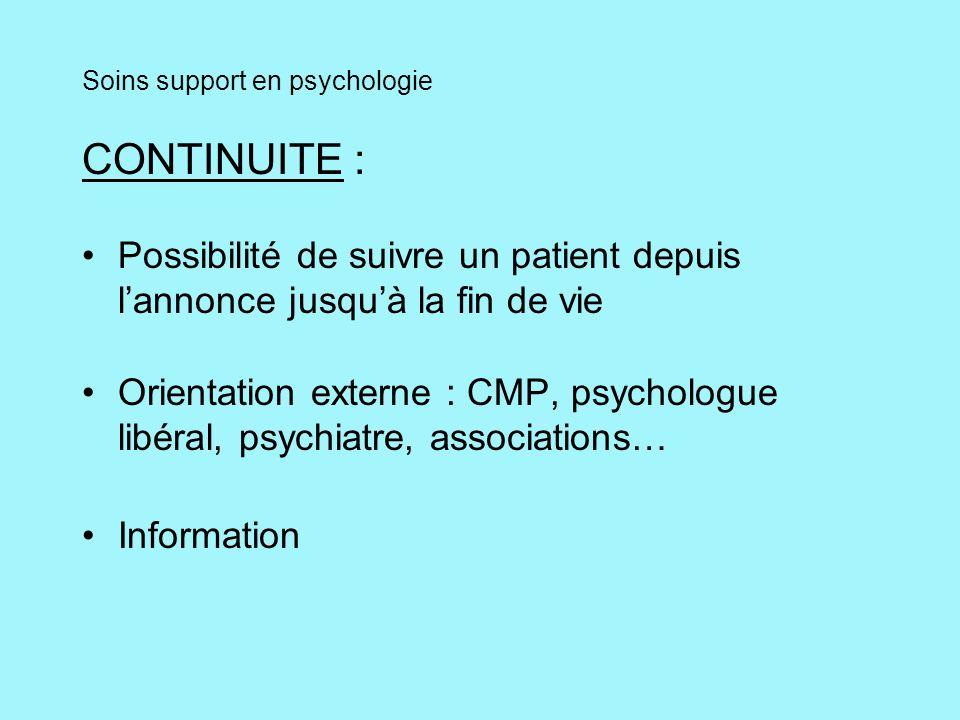 Soins support en psychologie