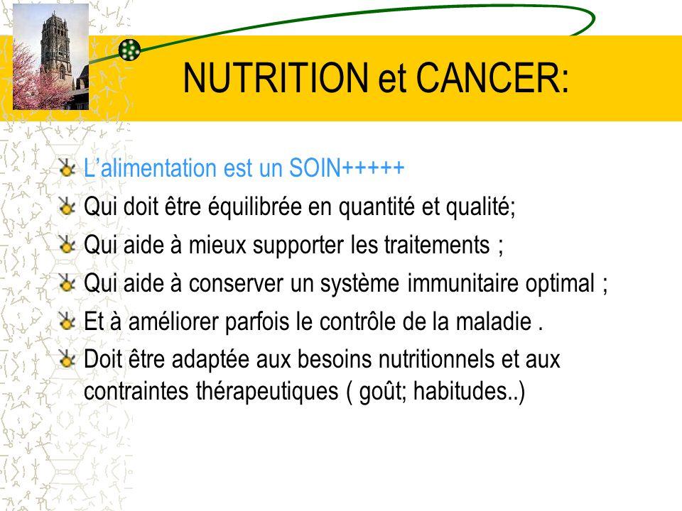 NUTRITION et CANCER: L'alimentation est un SOIN+++++