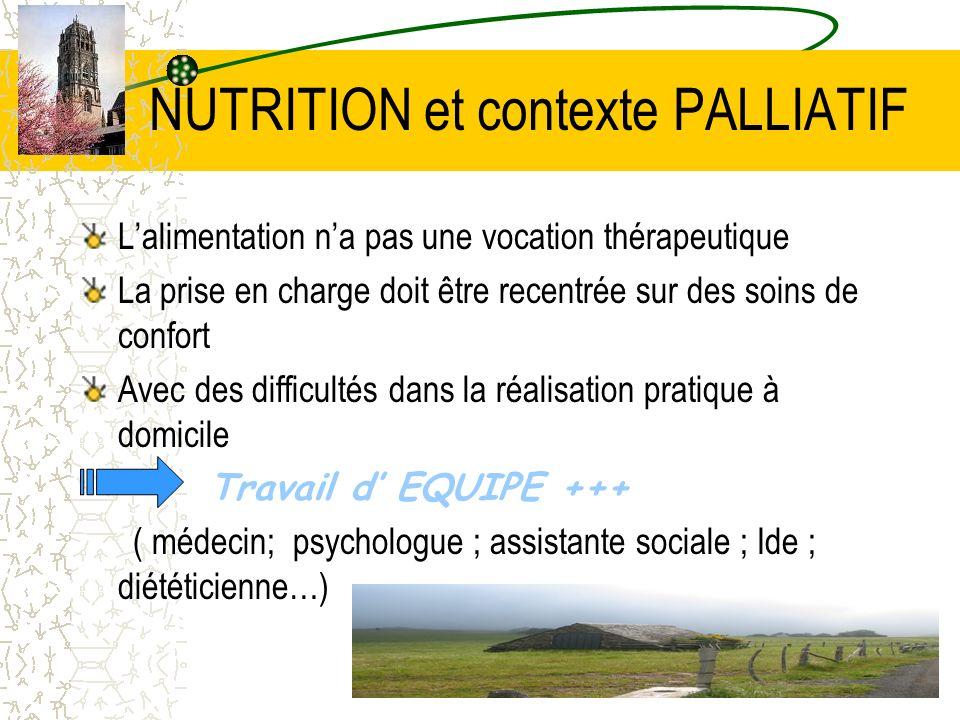 NUTRITION et contexte PALLIATIF
