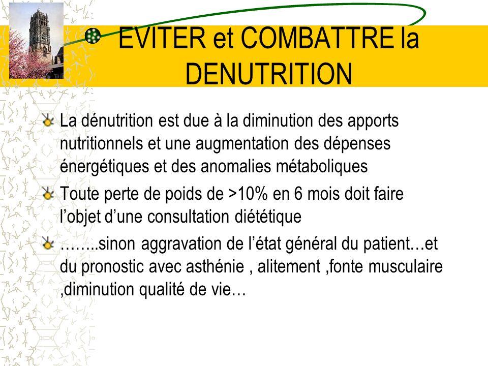 EVITER et COMBATTRE la DENUTRITION