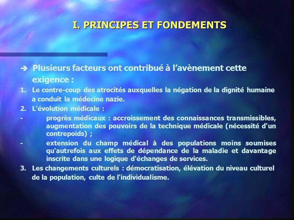 I. PRINCIPES ET FONDEMENTS