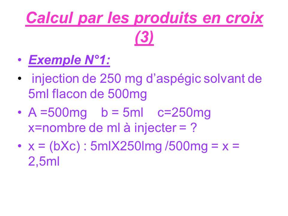 Calcul par les produits en croix (3)