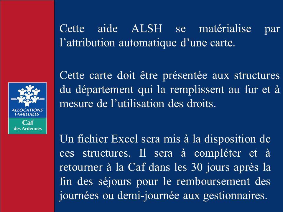 Cette aide ALSH se matérialise par l'attribution automatique d'une carte.
