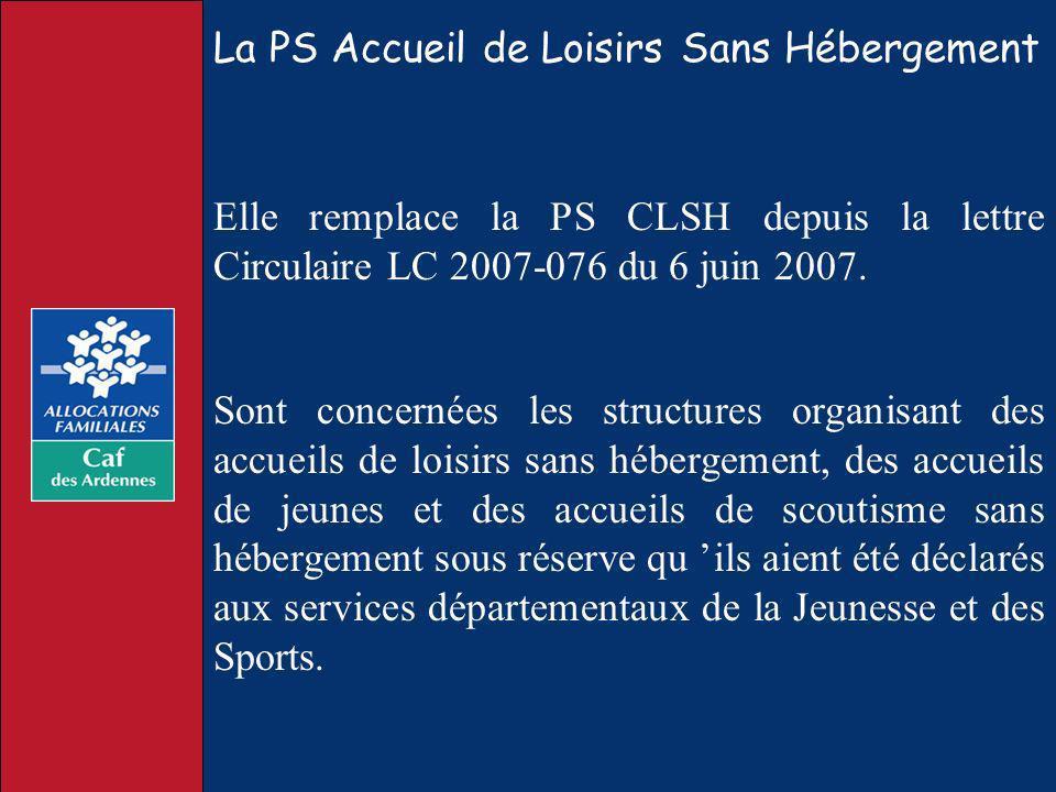 La PS Accueil de Loisirs Sans Hébergement