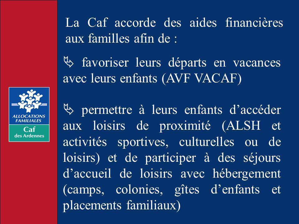 La Caf accorde des aides financières aux familles afin de :