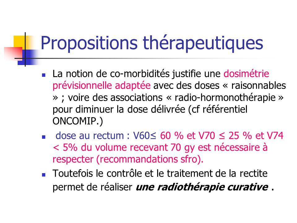 Propositions thérapeutiques