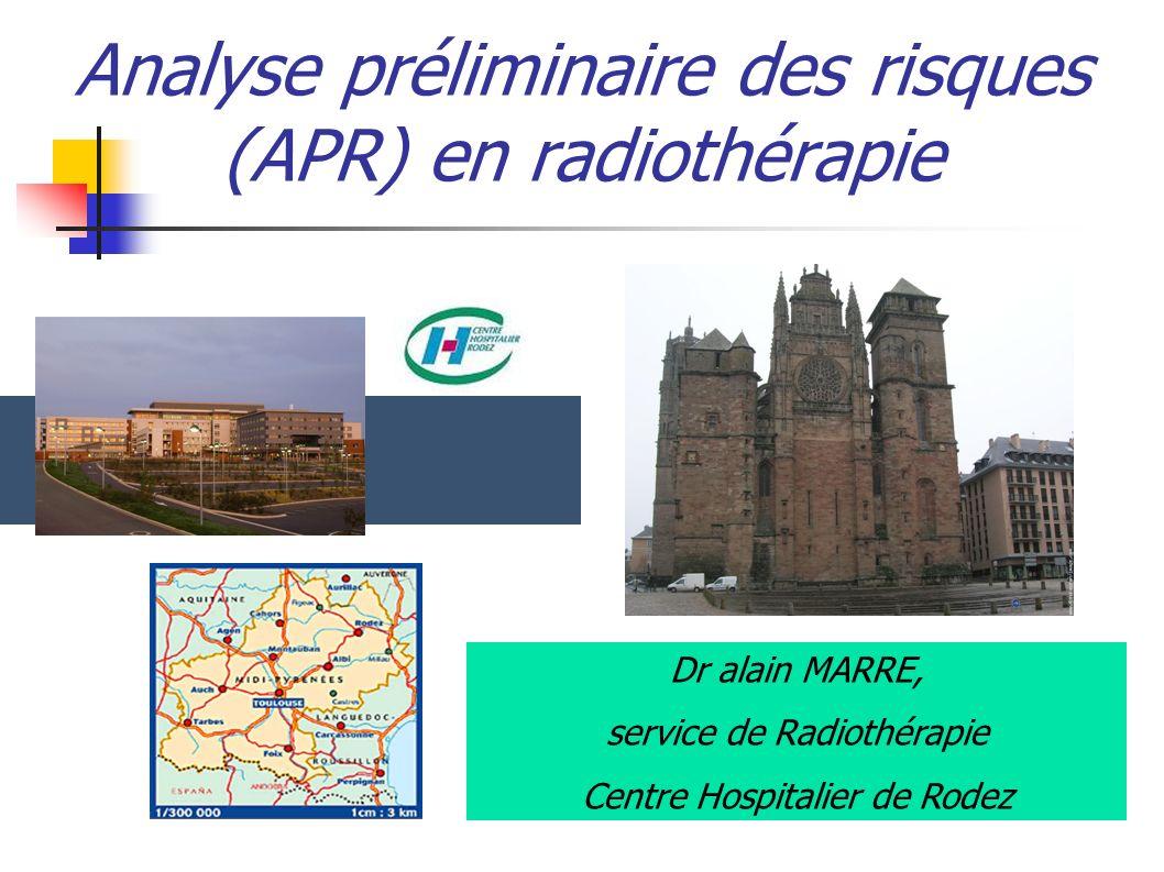 Analyse préliminaire des risques (APR) en radiothérapie