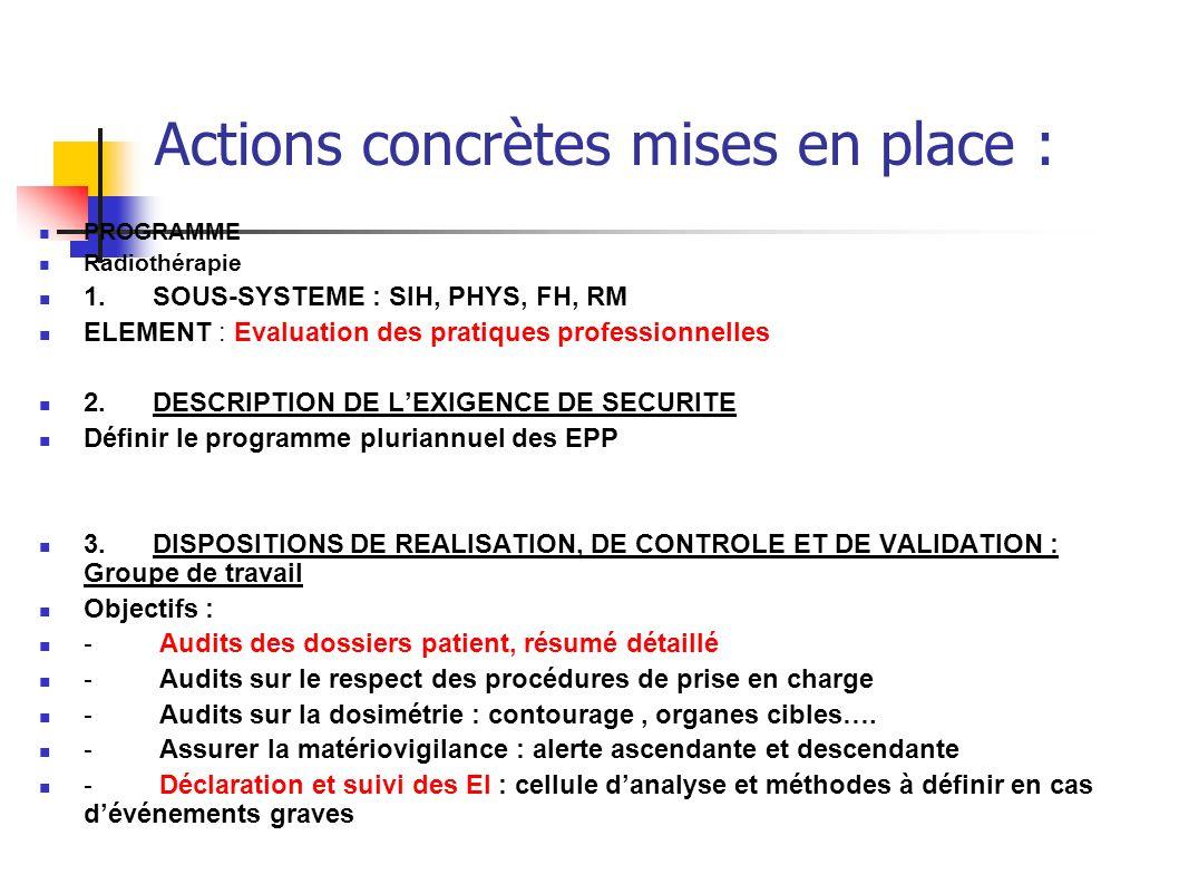 Actions concrètes mises en place :