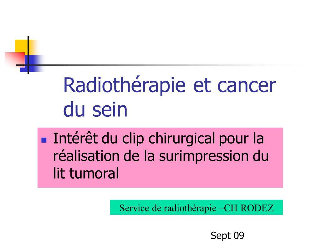 Service de radiothérapie –CH RODEZ