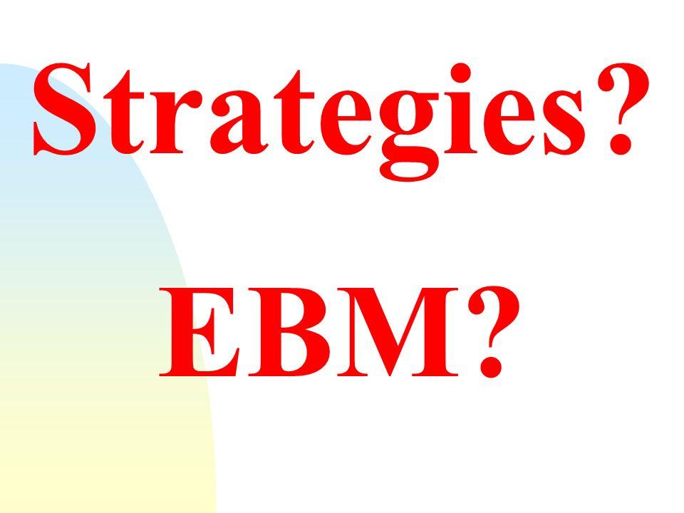 27/03/2017 Strategies. EBM.