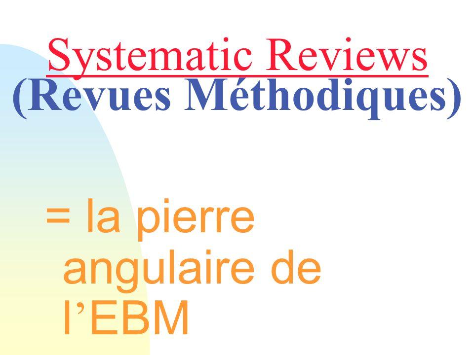 Systematic Reviews (Revues Méthodiques)