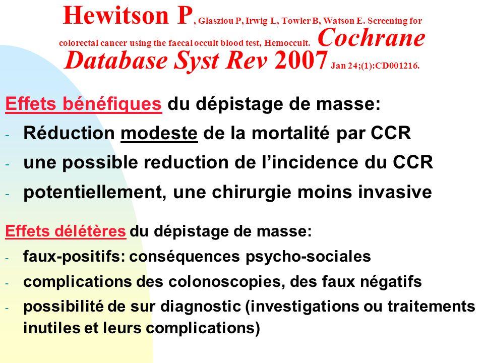 Hewitson P, Glasziou P, Irwig L, Towler B, Watson E