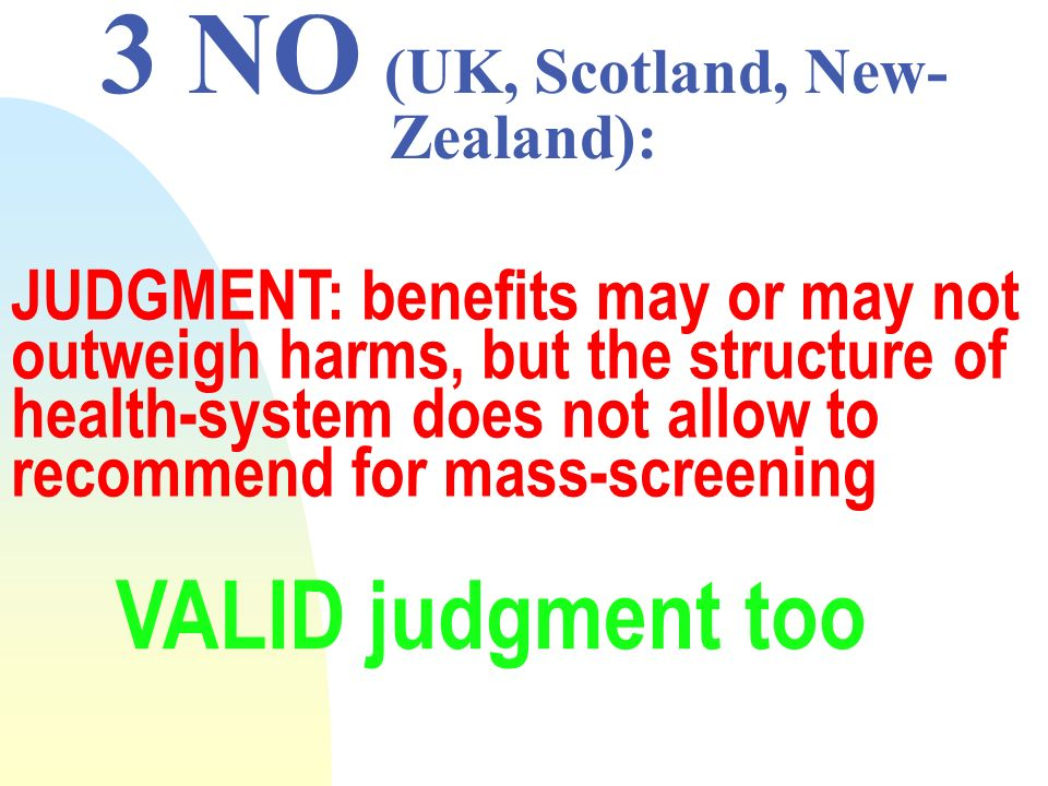 3 NO (UK, Scotland, New-Zealand):