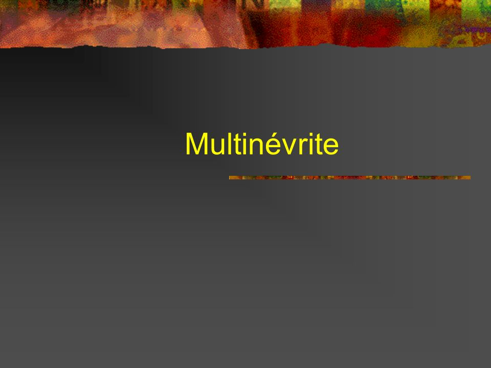 Multinévrite