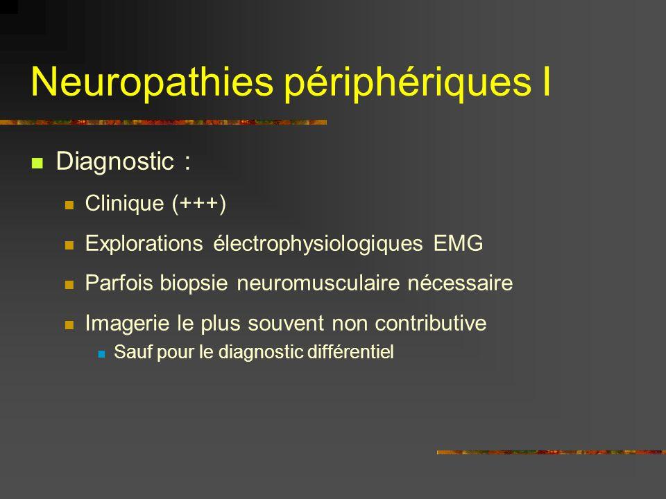 Neuropathies périphériques I